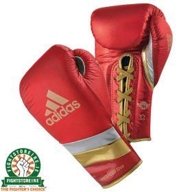 Adidas adiSpeed Lace Boxing Gloves Metallic - Red
