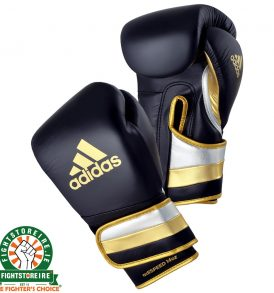 Adidas adiSpeed Limited Edition Velcro Boxing Gloves Metallic - Black/Gold