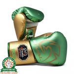 Rival RS100 Professional Sparring Gloves - Green/Gold