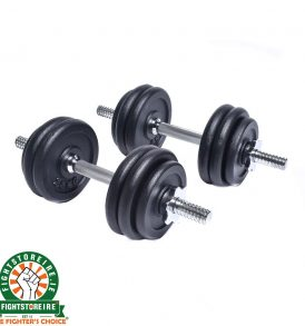 Booster Cast Iron Dumbbell Set 20KG (2 x 10kg)