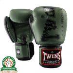 Twins BGVL 8 Thai Boxing Gloves - Olive Green/Black