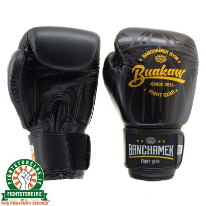 Booster Buakaw Thai Boxing Gloves - Black