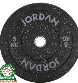 Jordan HG Black Rubber Bumper Plate - Coloured Fleck