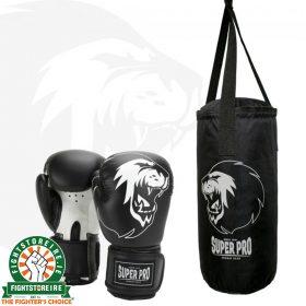 Super Pro Kids Punch Bag Set - Black