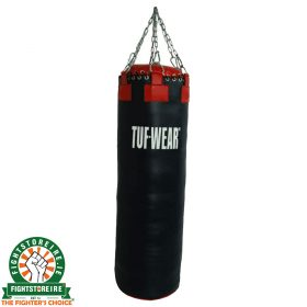 TUF Wear Leather Punch Bag - Black/Red