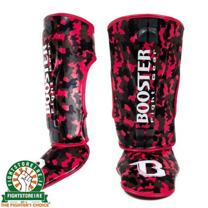 Booster Kids Camo Pink Shinguards