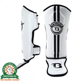 Booster Kids Elite 4 Shinguards - White
