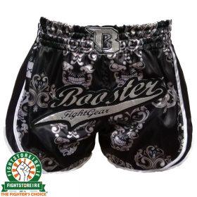 Booster Retro Skull Muay Thai Shorts - Black
