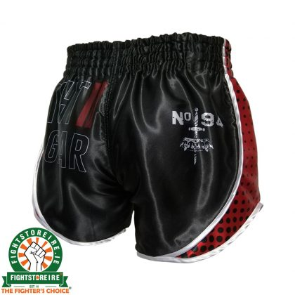 Booster Vintage Shield Muay Thai Shorts - Black/Red