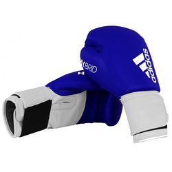 Adidas Hybrid 100 Boxing Gloves - Blue/White photo review