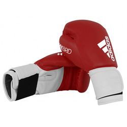 Adidas Hybrid 100 Boxing Gloves - Red/White photo review