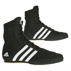 Adidas Box Hog Boys 2 Boxing Boots - Black/White photo review
