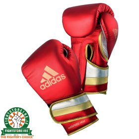 Adidas adiSpeed Limited Edition Velcro Boxing Gloves Metallic - Red