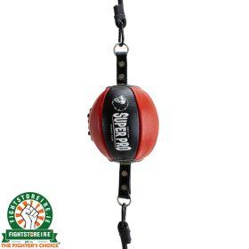 Super Pro Leather Reflex Ball - Black/Red