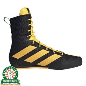 Adidas Box Hog 3 Boxing Boots - Black/Gold