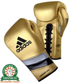 Adidas adiSpeed Lace Metallic Gold Boxing Gloves