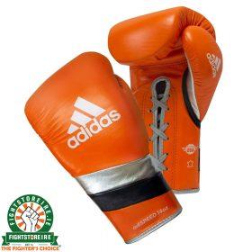 Adidas adiSpeed Limited Edition Lace Boxing Gloves - Orange