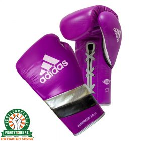 Adidas adiSpeed Limited Edition Lace Boxing Gloves - Purple