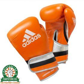 Adidas adiSpeed Limited Edition Velcro Boxing Gloves - Orange