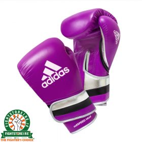 Adidas adiSpeed Limited Edition Velcro Boxing Gloves - Purple