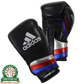 Adidas adiSpeed Velcro Boxing Gloves - Black/Blue/Red/Silver