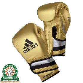 Adidas adiSpeed Velcro Metallic Gold Boxing Gloves